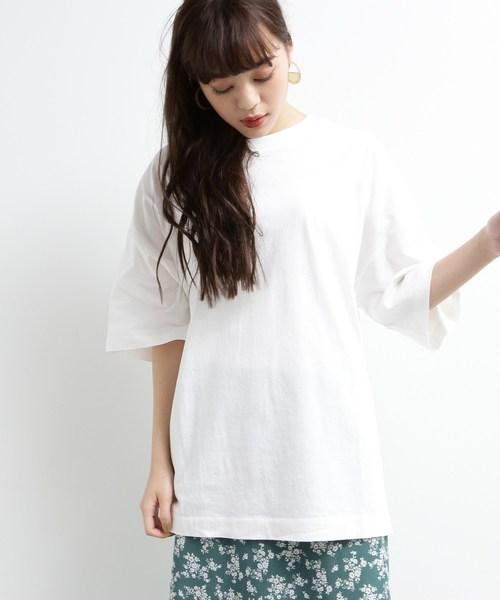 [洗える]バッグロゴビッグTシャツ