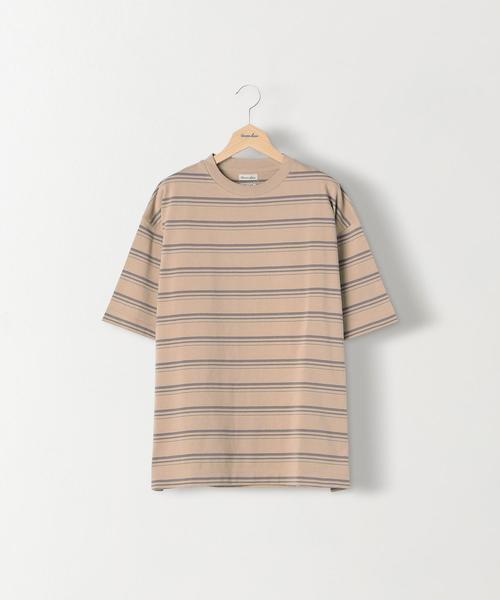 <Steven Alan> HI-DENS BORDER CREW NECK TEE-BOLD/Tシャツ
