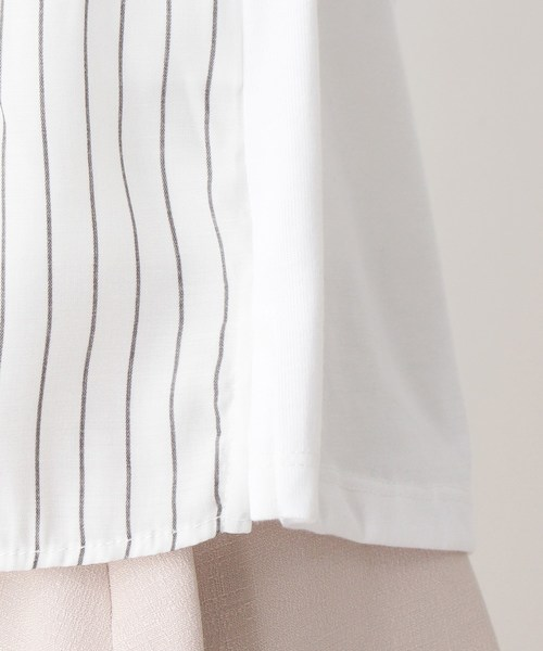 index(インデックス)の「異素材ドッキングジャージ(Tシャツ/カットソー)」|詳細画像