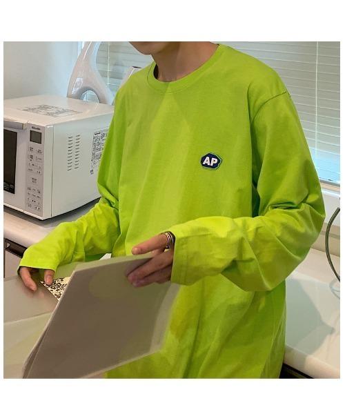 ビッグシルエット ロンT 長袖Tシャツ ワンポイント