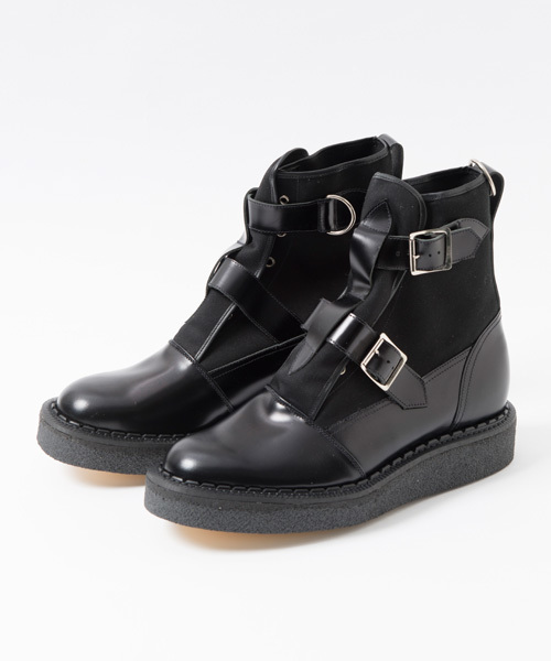 GEORGE COX(ジョージコックス)の「deadman x GEORGE COX Bondage Boots(ブーツ)」|ブラック