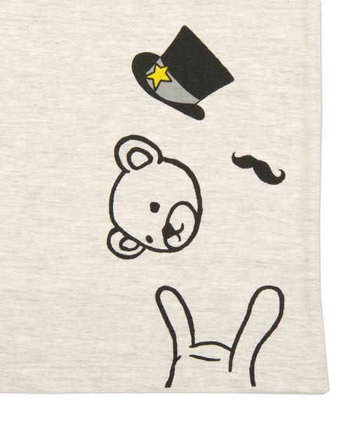 ベーシックTシャツ/シルクハットコントロールベア