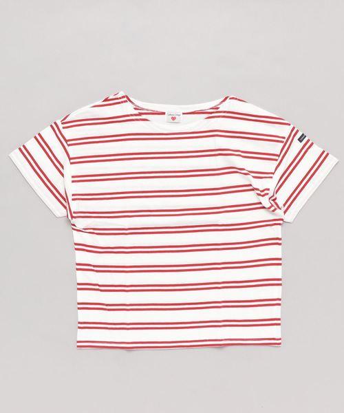 オーガニックコットン ボーダー半袖Tシャツ