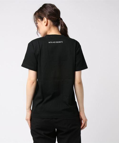 [ALLUMER / アリュメール] クルーネックプリントTシャツ (LIVE LIFE)