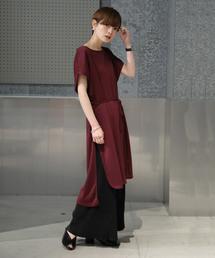 koe(コエ)のRTポンチ紐付フレンチスリーブチュニック(Tシャツ/カットソー)