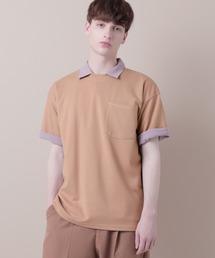 ポンチローマオーバーサイズハーフスリーブ ステッチカットソー(EMMA CLOTHES)ベージュ系その他
