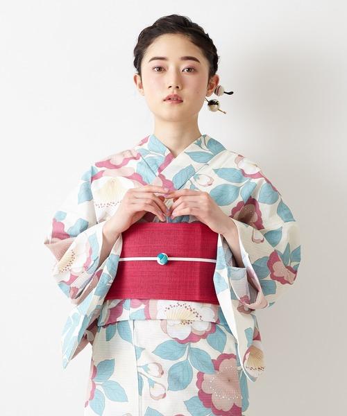 ふりふ(フリフ)の「浴衣「桜」(浴衣)」|オフホワイト