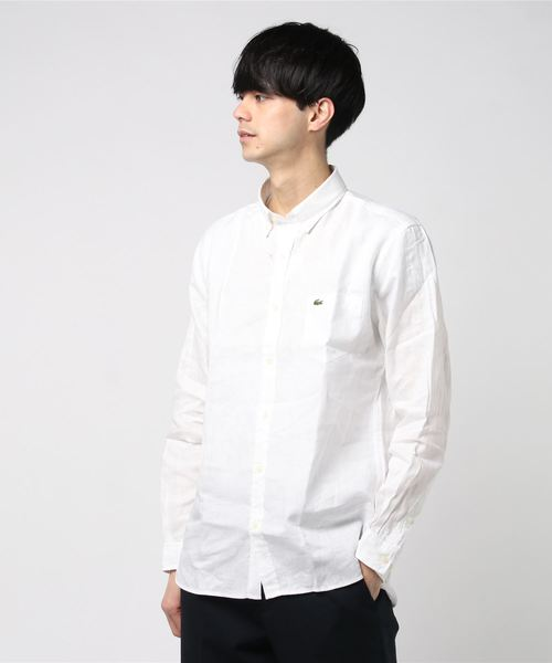 レギュラーフィット リネンシャツ (長袖)