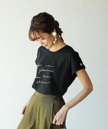 ドルマンスリーブポイント刺繍Tシャツ