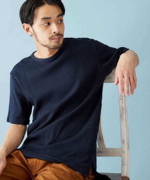 ワッフルサーマル CREW/HENLEY 7分袖&半袖 Tシャツ / クルーネック&ヘンリーネック使用禁止