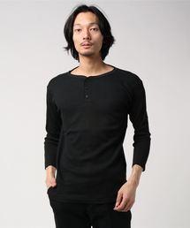 ワッフルサーマル CREW/HENLEY 7分袖&半袖 Tシャツ / クルーネック&ヘンリーネックブラック系その他5