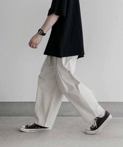 remer(リメール)の「loose tapered wide PT / ルーズテーパードワイドパンツ(パンツ)」|オフホワイト