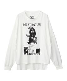DESTROY ALL MONSTERS/NIAGARA W SNAKE オーバーサイズTシャツホワイト