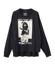 DESTROY ALL MONSTERS/NIAGARA W SNAKE オーバーサイズTシャツブラック