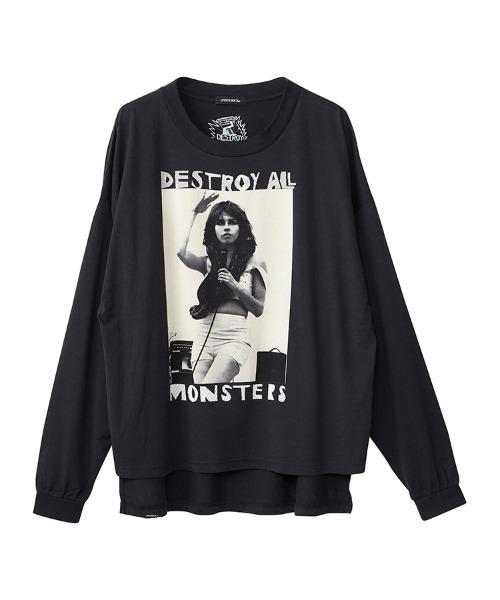 DESTROY ALL MONSTERS/NIAGARA W SNAKE オーバーサイズTシャツ