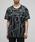 BLACK by VANQUISH(ブラックバイバンキッシュ)の「バーティカルラインオーバークルーネックTシャツ(Tシャツ/カットソー)」|ブラック系その他