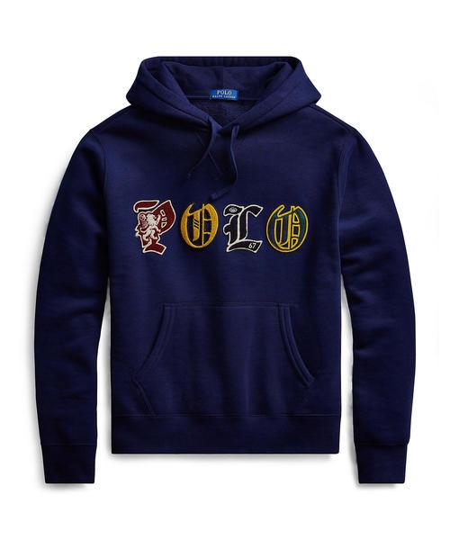 見事な コットンブレンドフリース フーディ(パーカー) メンズ,POLO|POLO RALPH MEN