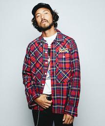 HYSTERIC GLAMOUR(ヒステリックグラマー)のCAR EQUIPMENT プリント 長袖ワークシャツ(シャツ/ブラウス)