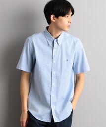 SC★ピンポイントオックスフォード 刺繍 ボタンダウン 半袖 シャツ