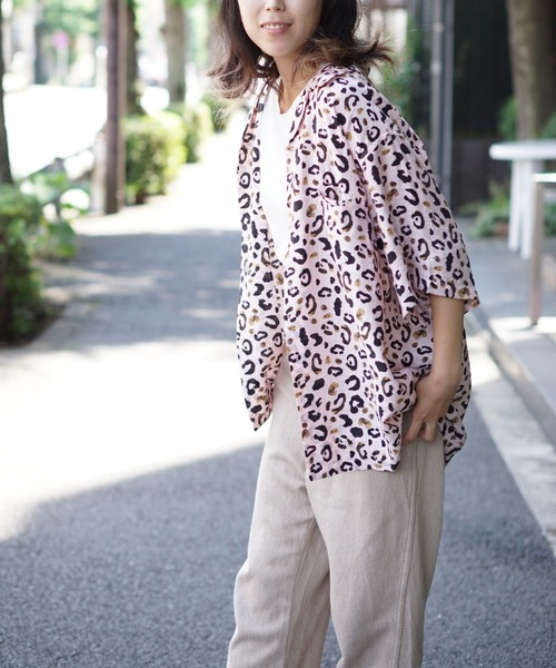 PENNEYS(ぺニーズ)の「PENNEY'S / ペニーズ PENNYS LEOPARD SHIRTS(シャツ/ブラウス)」|ピンク
