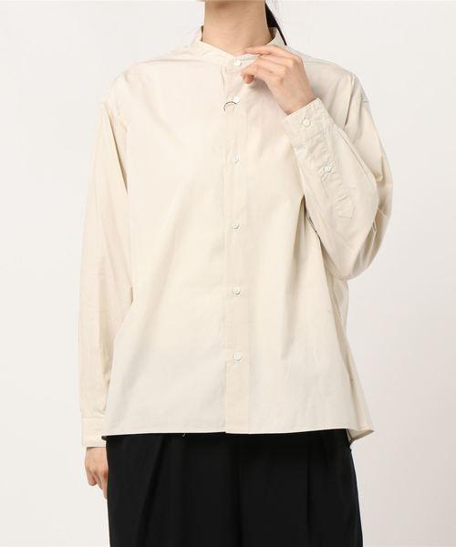GYMPHLEX/ジムフレックス ハイカウントポプリンスタンドシャツ #J-1470HGL