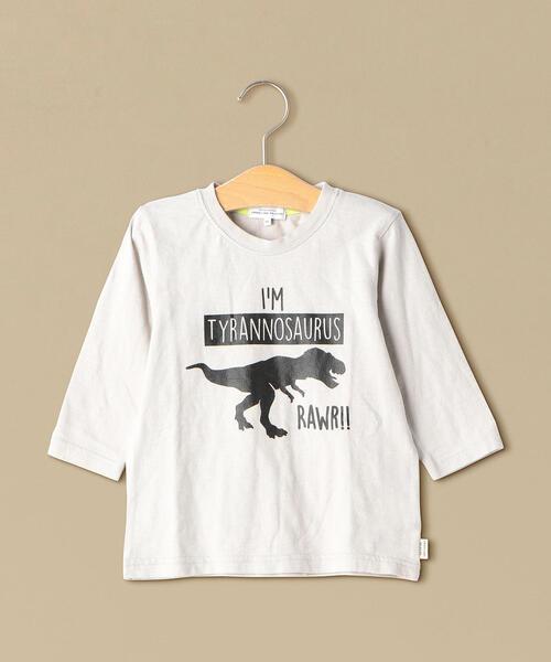 恐竜プリント 7スリーブTシャツ