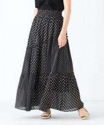 Demi-Luxe BEAMS(デミルクス ビームス)のne Quittez pas / コットンドット ロングスカート(スカート)
