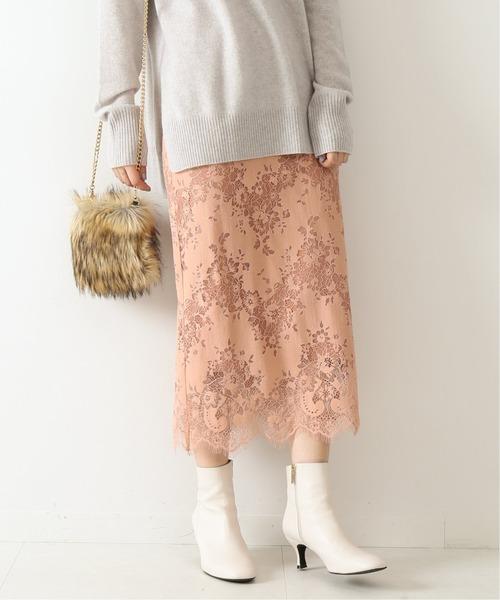 Spick & Span(スピックアンドスパン)の「ラッセルレーススカート3◆(スカート)」|ピンク