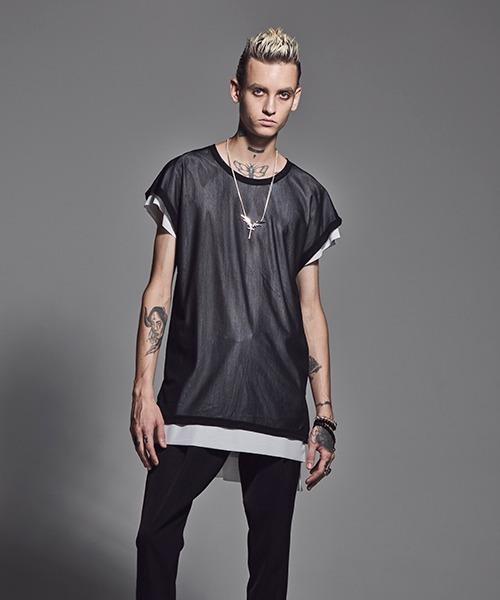 kiryuyrik(キリュウキリュウ)の「LayeredDropT(Tシャツ/カットソー)」|ブラック系その他