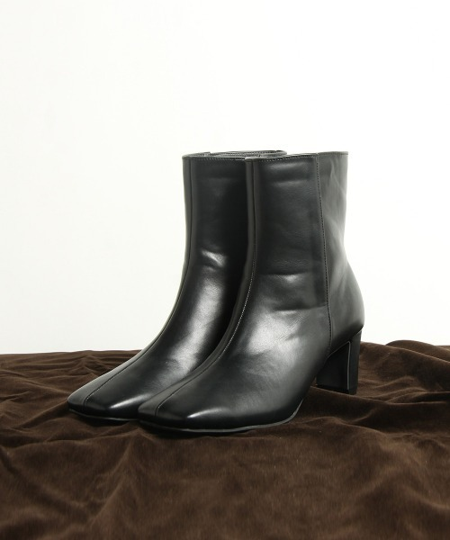 LIPSTAR(リップスター)の「スクエアブーツ/ミドルブーツ(ブーツ)」 ブラック