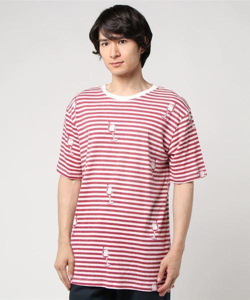 PHATEE(ファッティー)の「【PHATEE】ファティー ETERNI TEE PRINTED Tシャツ(Tシャツ/カットソー)」|レッド