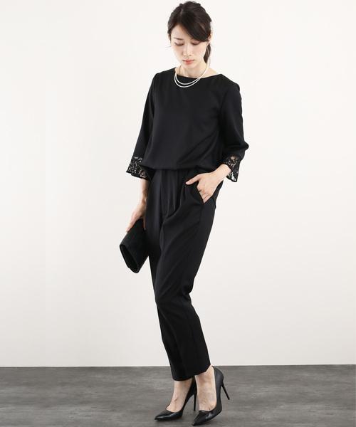 品質満点! レーススリーブ パンツ パンツ セットアップ フォーマル フォーマル セットアップ スーツ【2点セット】結婚式 ブラックフォーマル 喪服(セットアップ)|DRESS LAB(ドレスラボ)のファッション通販, シロポッサ!北欧アンティーク:85362a89 --- 5613dcaibao.eu.org
