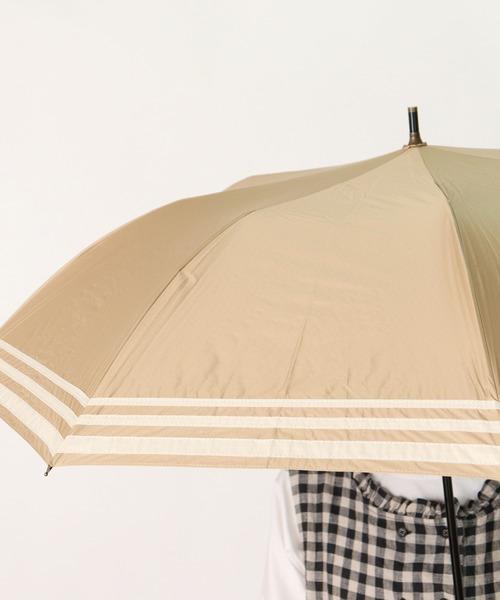 ∴晴雨兼用傘 C/Cマリンボーダーショートワイド 27393