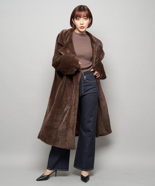 ビックカラーファーコート