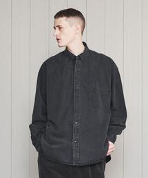 <H>BLACK DENIM BD SHIRT/シャツ
