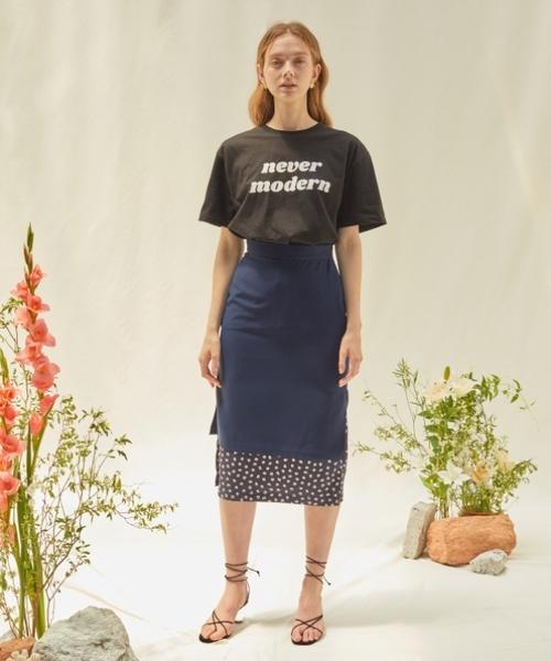 ANEDIT(アンエディット)の「【ANEDIT 】レイヤード スカート(スカート)」|ネイビー