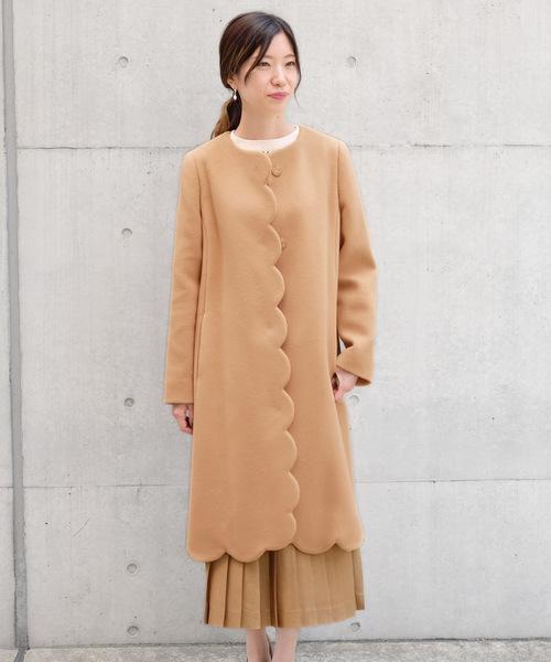 【日本限定モデル】 MANTECOビーバー ノーカラースカラップコート(その他アウター) STRAWBERRY-FIELDS(ストロベリーフィールズ)のファッション通販, GRAMOROUS:d9758f51 --- svarogday.com
