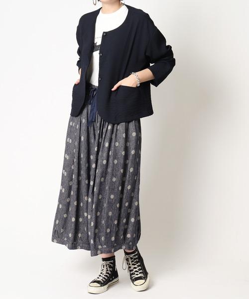 【 ubasoku / ウバソク 】ウエストギャザー裏付き裾タックボリュームパンツ ub-0094 BNT