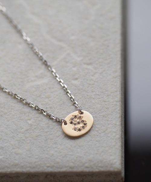 【'MANISTA】Classicoクラシコ: K10YG×シルバー925ダイヤモンド イニシャルネックレス