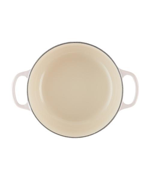Le Creuset(ルクルーゼ)の「シグニチャー ココット?ロンド20cm シェルピンク (ライトゴールドツマミ)(キッチンツール)」 詳細画像