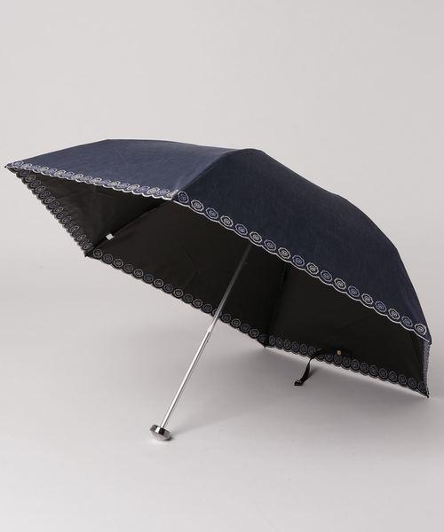 HANWAY(ハンウェイ)の「日傘 ベリーニエンブ(折りたたみ傘)」 ネイビー