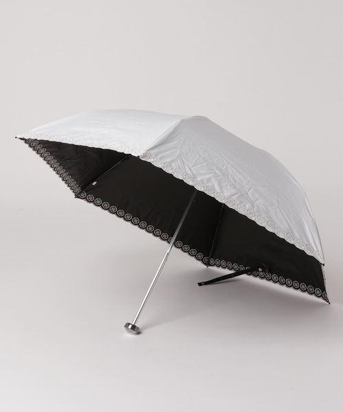 HANWAY(ハンウェイ)の「日傘 ベリーニエンブ(折りたたみ傘)」 オフホワイト