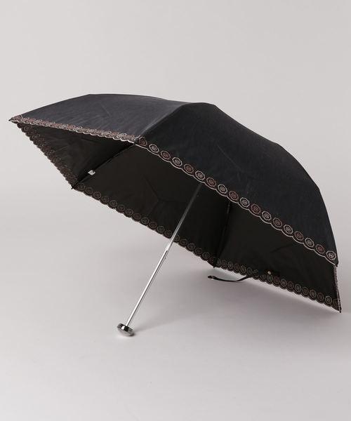 HANWAY(ハンウェイ)の「日傘 ベリーニエンブ(折りたたみ傘)」 ブラック
