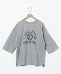 インレイプリントTシャツ(7分袖カットソー)