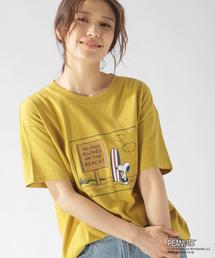 PEANUTS(ピーナッツ)の【PEANUTS×BAYFLOW】スヌーピーCネックTシャツ(Tシャツ/カットソー)