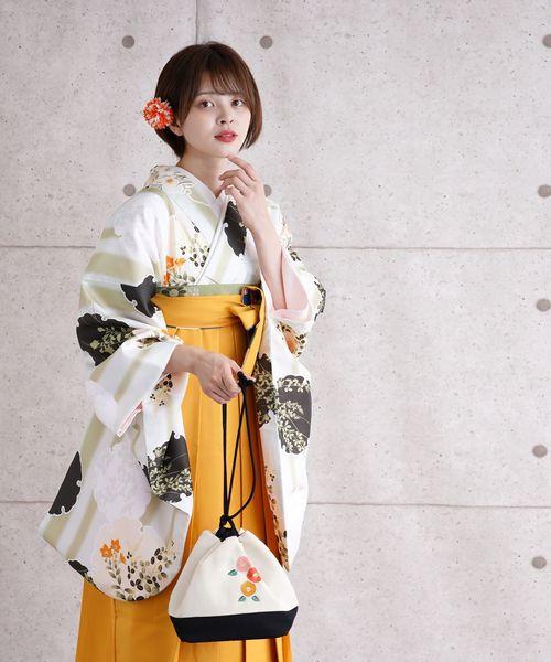日本人気超絶の 袴セット 淡いグリーンのぼかし縞と花雪輪(着物/浴衣) utatane(ウタタネ)のファッション通販, 西川ストアONLINE:0d4cb6e4 --- hundeteamschule-shop.de