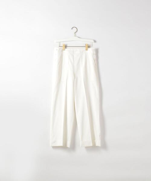 <Steven Alan>CLOPPED 4POCKET PANTS WHITE/パンツ ◆