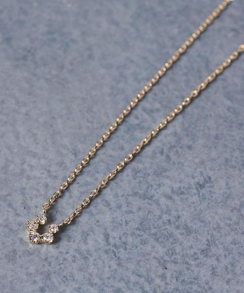 UBCB 18K 5ダイヤ ネックレス