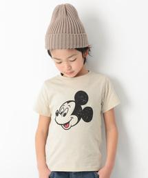 Disney(ディズニー)のミッキー柄Tシャツ(Tシャツ/カットソー)
