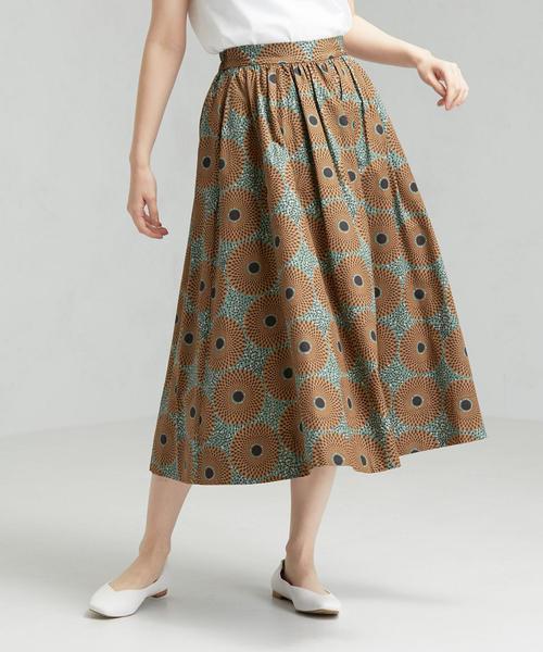 [ル・グラジック]LE GLAZIK SC プリント フレア スカート
